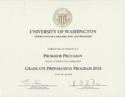Protasov – University of Washington Certificate
